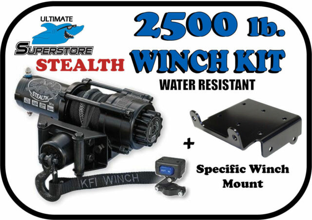 KFI 2500 LB Winch and Mount Kit for Yamaha Bruin Grizzly Kodiak 350 400 450 MOST