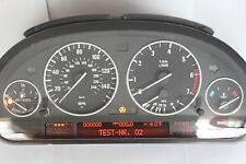 0 Miles Virgin Remanufactured BMW E39 5-ser Instrument Cluster w/ Gauges Rings