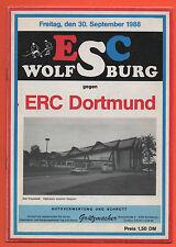Orig.PRG    2.Liga Nord  88/89   ESC WOLFSBURG - ERC Dortmund  !!  SELTEN