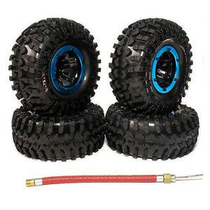SCX10 AX10 Inflatable 2.2 Inch Beadlock Tire Wheel 1/10 RC Crawler Truck Wraith