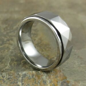 Two Tone Tungsten Carbide Mens Ring