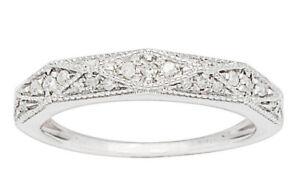 G-H, I1-I2 10k White Gold 1//3ct Lattice Pave Diamond Anniversary Wedding Band