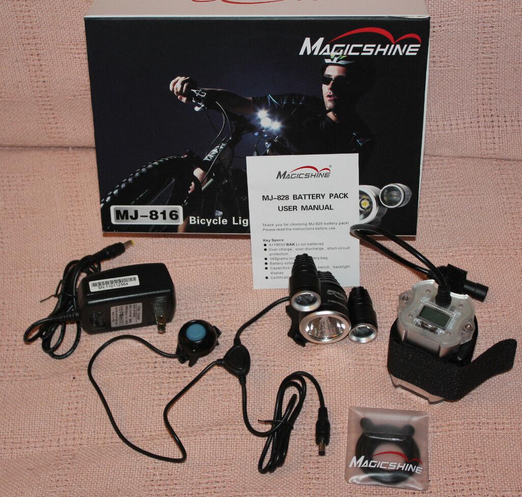 MagicShine MJ-816 1400 LM Led Bike Light+ 828 battery pk