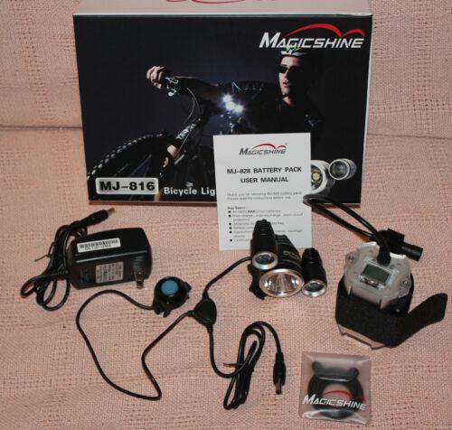 828 battery pk MagicShine MJ-816 1400 LM Led Bike Light