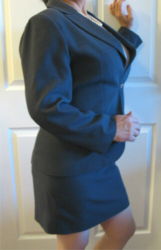 Blue Polyester 44 42 Suit Skirt Women's Jacket gray Style Comma wECgxcnqpI