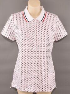Tommy-Hilfiger-Para-Mujer-Camisa-Polo-Heritage-de-Diseno-Estampado-de-Estrellas-Tamano-Mediano