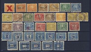 34x-Canada-Revenue-War-Tax-amp-Excise-Tax-Stamps-2x-Div-17-Coils-1x-Invert-O-P