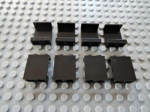 LEGO 8 x panneau mur 4864 1x2x2 Noir