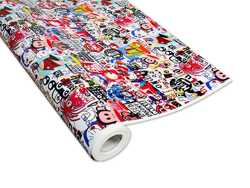 Stickerbomb-Folie 3D Film de Voiture 3D Stickerbomb-Folie Car-Wrapping, Logos & Marques, 343648