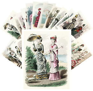 Postcards-Pack-24-cards-Victorian-Fashion-Vintage-Vogue-Magazine-CC1134