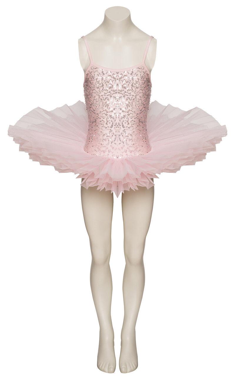 Rosa Pallido Luccicante Tutu con Argento Paillettes da Ballo e Balletto Costume