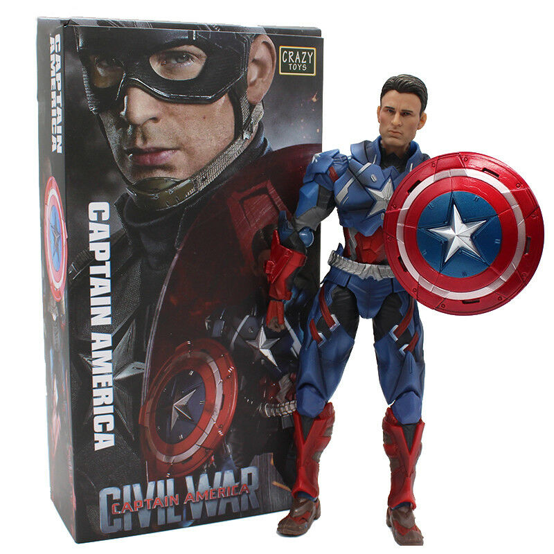 Crazy Toys Avengers Civil War Captain America PVC Action Figure Model Toy
