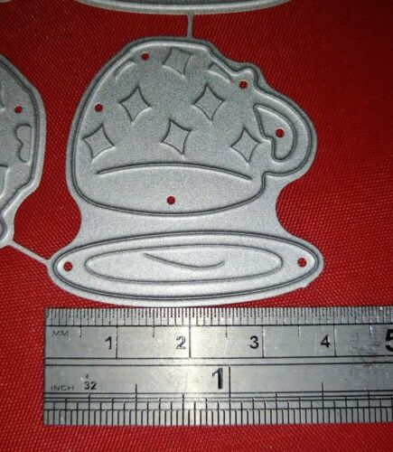 Tea Cups Metal cutting Die From Alice in Wonderland Card making Scrapbooking