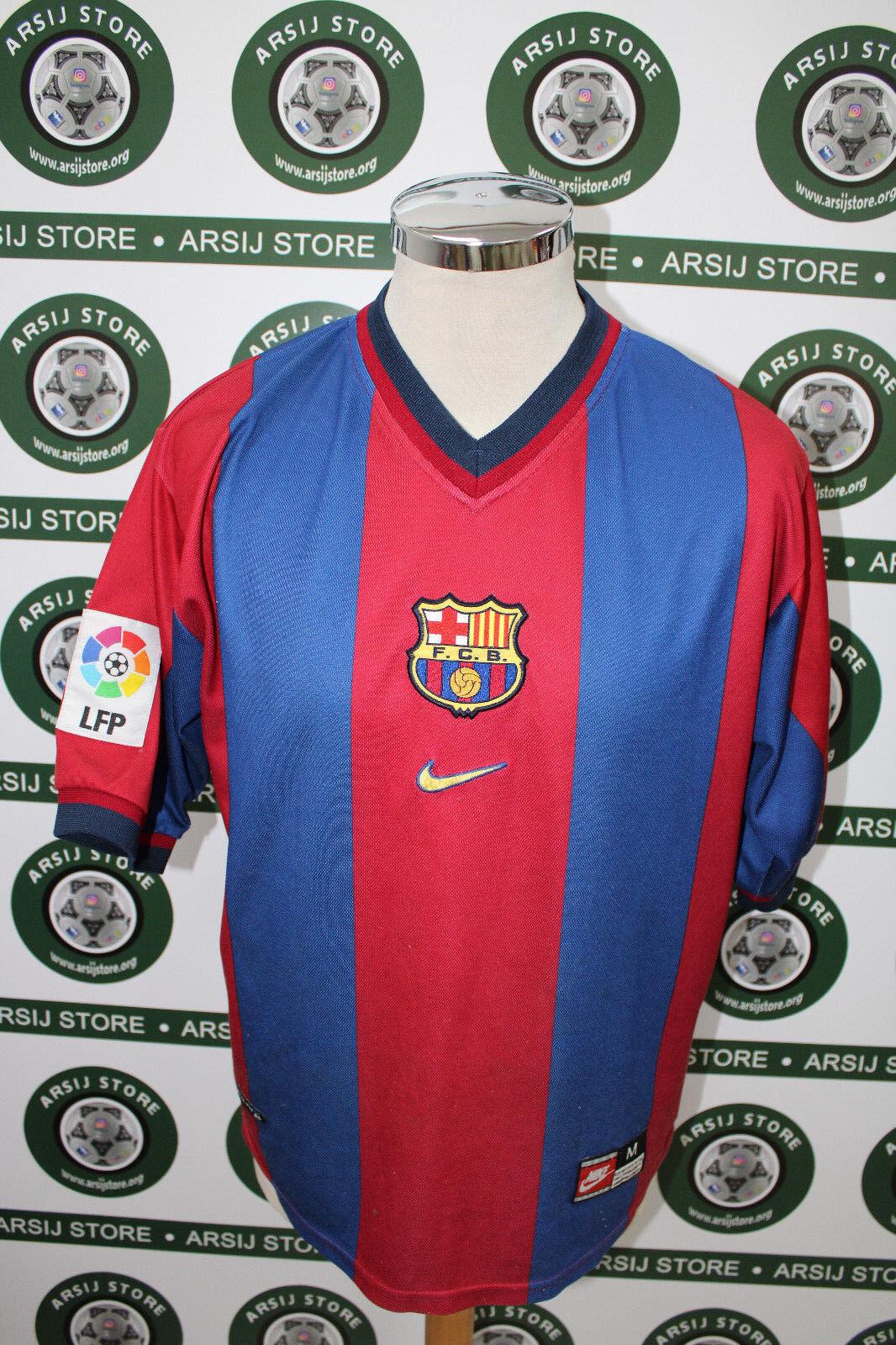 Maglia calcio shirt maillot camiseta trikot RIVALDO BARCELLONA BARCELONA TG M