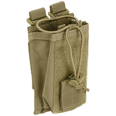 5.11 TACTICAL RADIO PHONE POUCH MOLLE SYSTEM AIRSOFT WEBBING SECURITY SANDSTONE