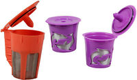 Keurig 2.0 Refillable Orange K-carafe And 2 Purple K-cups Coffee Filter 3 Packs