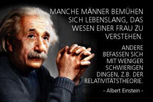 Albert-Einstein-Spruch-4-Blechschild-Schild-gewoelbt-Tin-Sign-20-x-30-cm-R0309