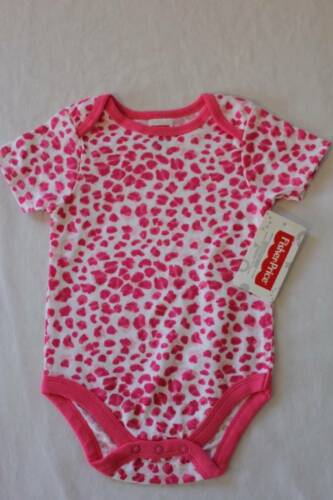 NEW Baby Girls 6-9 Months Bodysuit Creeper Outfit Infant 1 Piece Pink Leopard