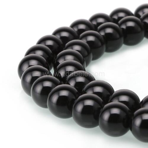 """Obsidiana U PICK Calidad Superior Natural Gemstone suelta redonda con cuentas de 15.5/"""" #GY24"""