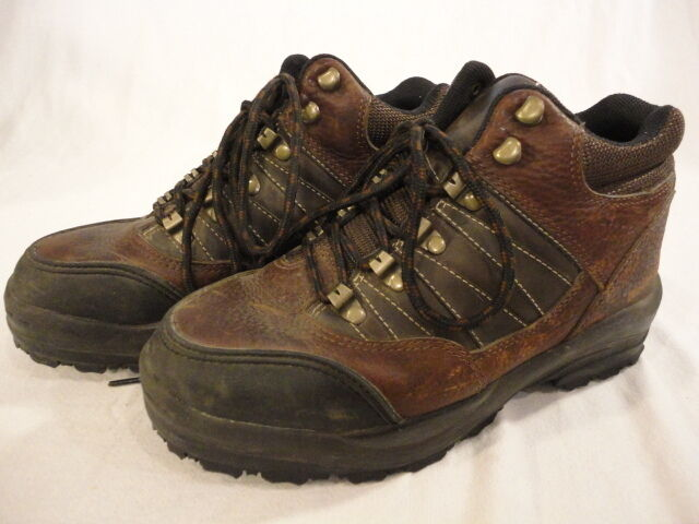 Mens Mt Everest Brown Leather Hiking Trail Boots shoes (Size 7)