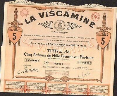 ISERE 38 LA VISCAMINE PONTCHARRA-SUR-BREDA DECO =/> 2 titres L