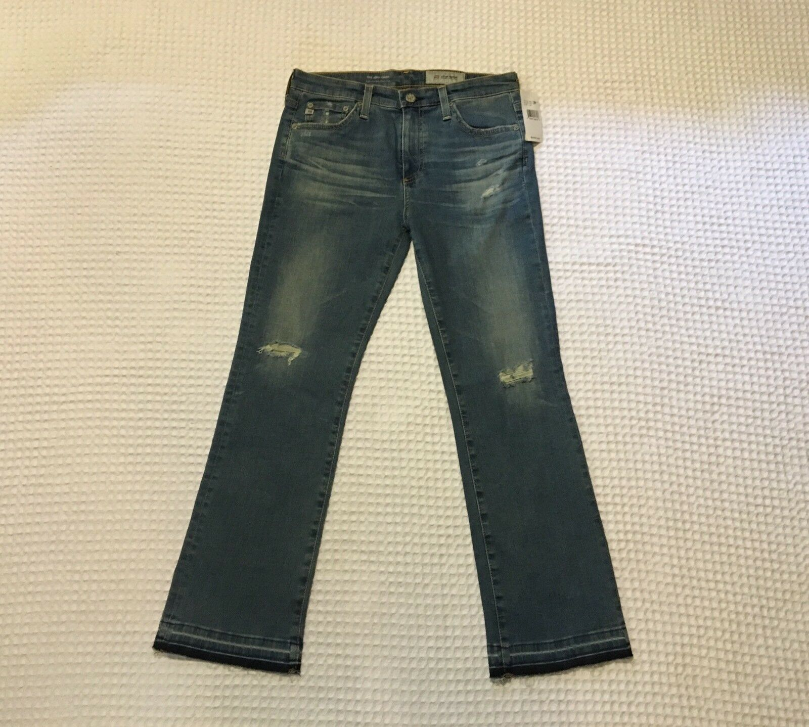 AG Adriano goldschmied AG-ED Jodi Crop 18 Yr High Rise Slim Flare Crop Jeans 28