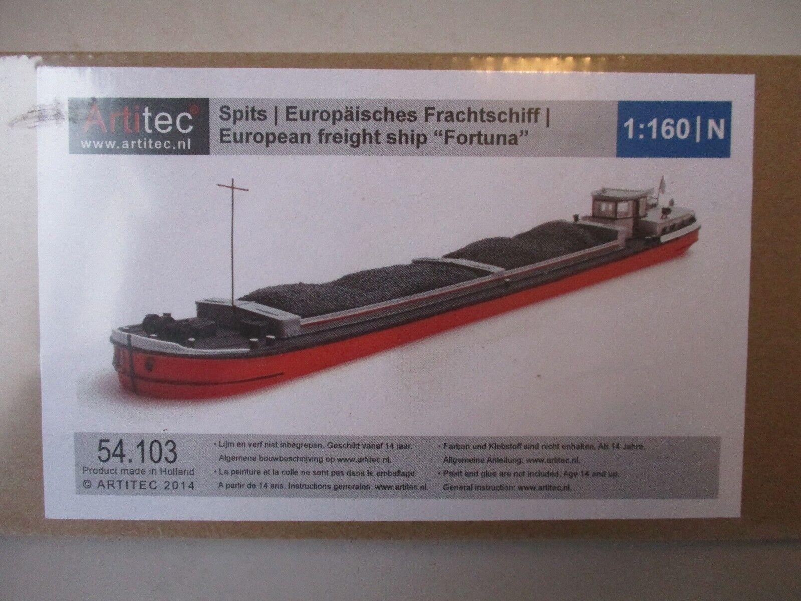 Artitec 54.103 - Européen Marchandise Barge 'Fortuna' 1 160   Echelle N