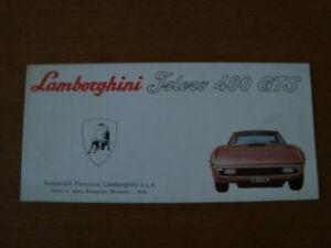 Lamborghini Islero 400 GTS fold out brochure