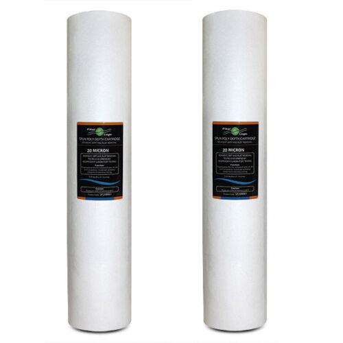 "SP20BB20 FilterLogic 20"" Big Blue Spun Poly 20 Micron Sediment Filter"