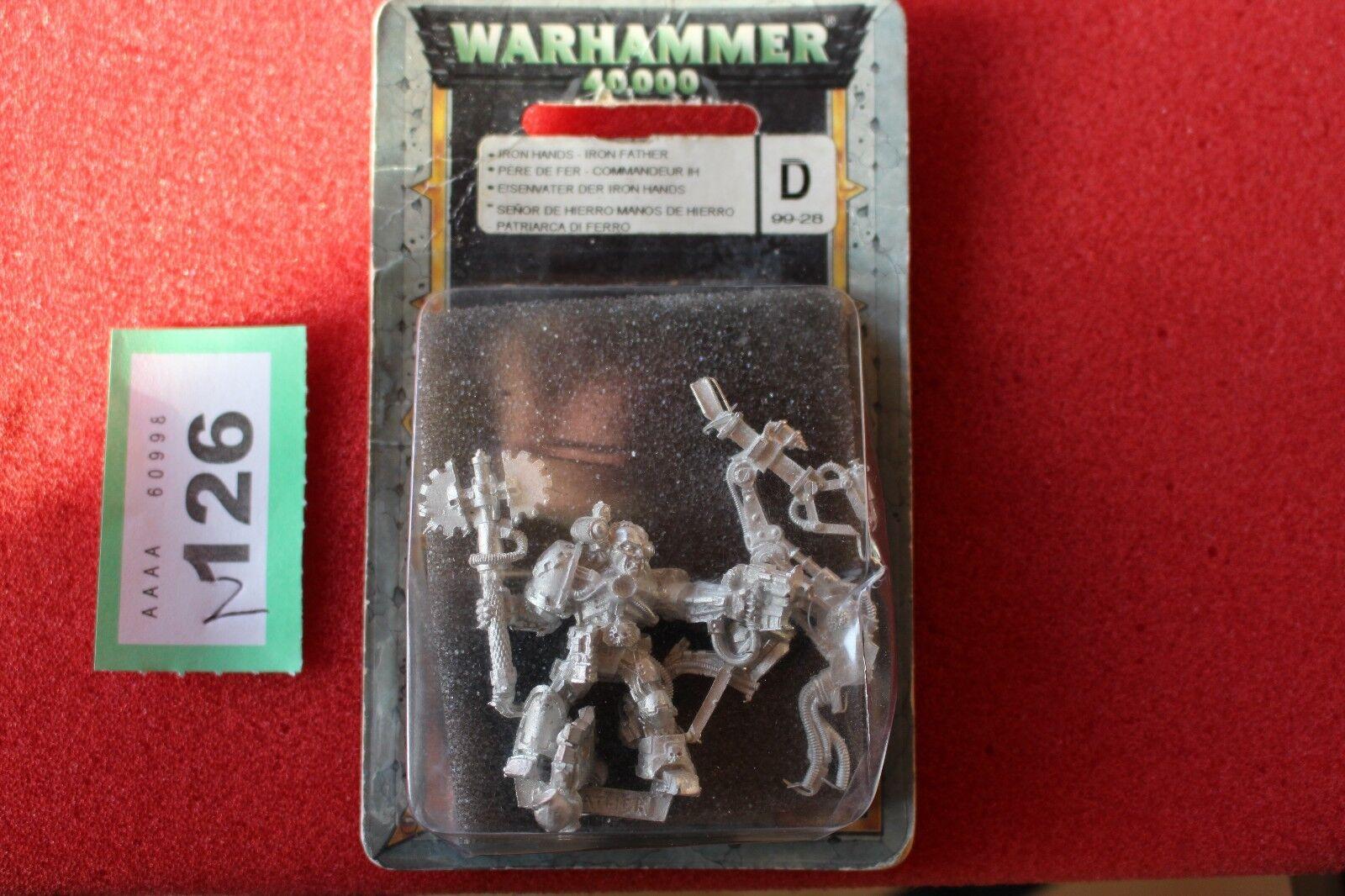 Games Workshop Warhammer 40k Iron Hands Iron père Entièrement neuf dans sa boîte en métal figure NEW RARE