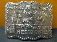 1987 Vintage Hesston National Finals Rodeo Belt Buckle Free Shipping