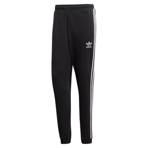 adidas ORIGINALS 3 STRIPES TRACK PANTS BLACK SWEAT BOTTOMS JOGGERS MEN/'S TREFOIL