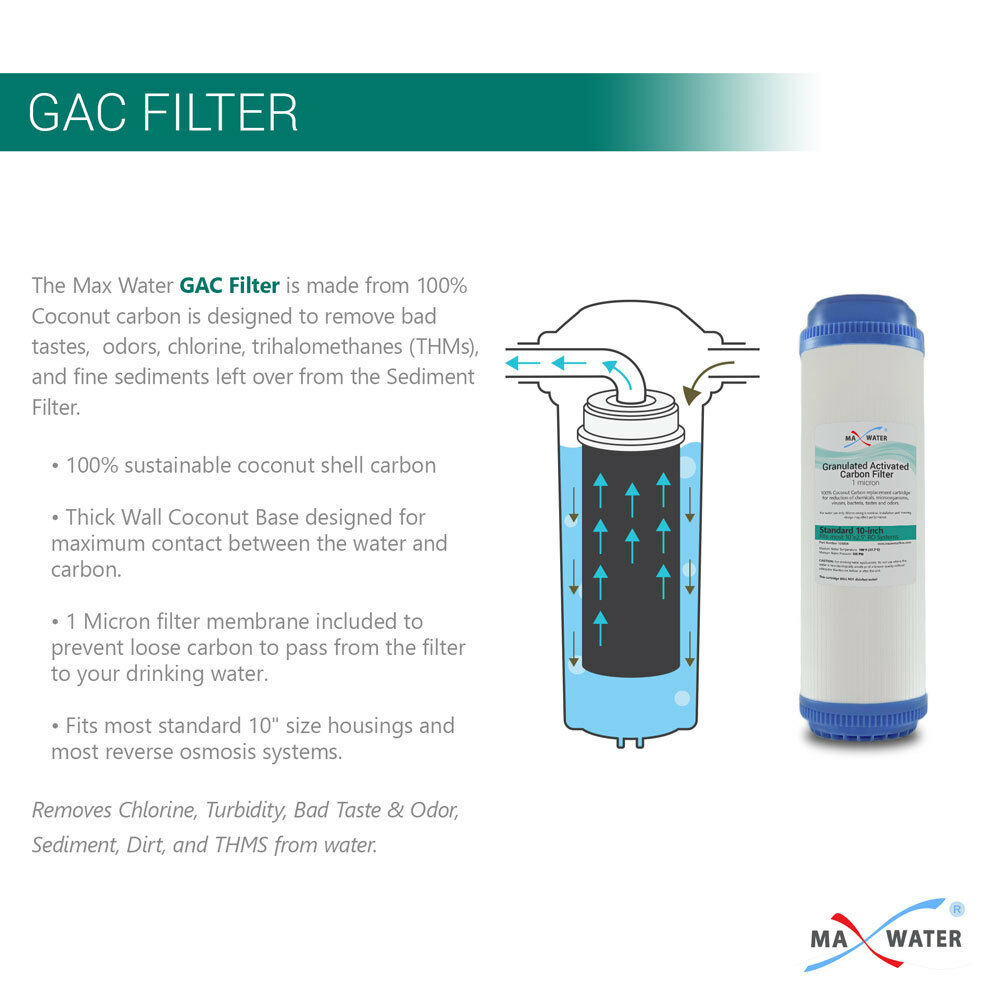 Max Water Whole House Water Filter Replacement Set Pleated Sediment Gac For Sale Online