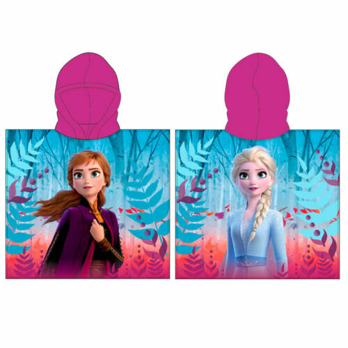 Frozen 2 Anna and Elsa Poncho Towel Disney    N:4003