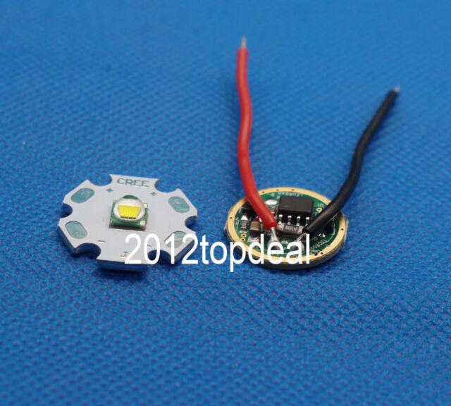 10W Cree XM-L T6 Natural White LED Light + DC 3.7V 2.5A XML LED Dimmer Driver