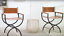 Leather Industrial Chair Vintage Retro Armchair Office Dining Room Metal Seat