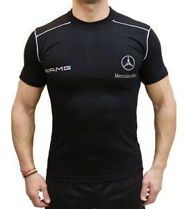 T-shirt-r-d-s-G-nz-Polo-brode-LOGO-Fan-Homme-Noir-Coton-Auto-GL-CL-63-55