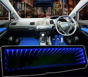 GALAXY ILLUSION  MIRROR LED LIGHT CLIP-ON REAR VIEW WINK REAR VIEW BLUE