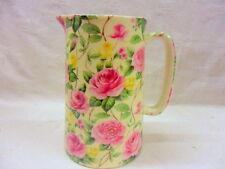 Rose Bloom design 1 pint pitcher jug by Heron Cross Pottery