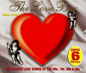 Details about >> THE LOVE BOX - 100 LOVE SONGS FROM 60s,70s,80s,90s/ VAR  ART - 6 CD BOX