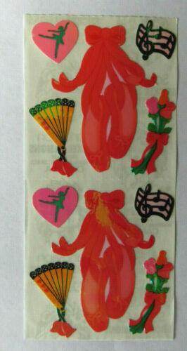 Strip of Vintage Ballet Roses Music Stickers Sandylion OPAL BALLET ICONS
