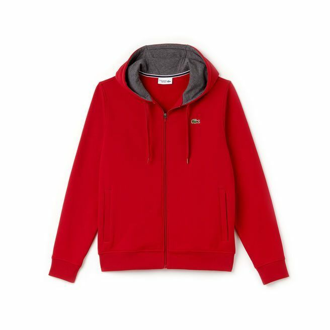 Lacoste ROT/Pitch Sport Full Zip Brushed Fleece Hoodie