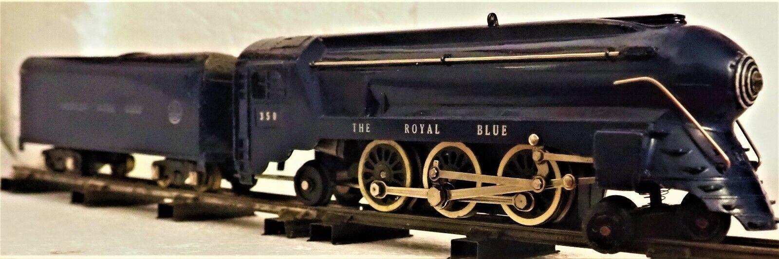 mejor moda Clásico, Clásico, Clásico, American Flyer temprano 1948 350 , la locomotora azul real , se ejecuta ex.  barato y de alta calidad