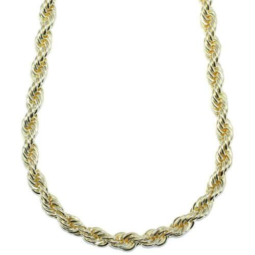 18k Gold Plated Rope Chain 8mm x 30 FILLED Stainless Steel