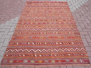 Kelim Modern vintage kilim rugs stripped kelim modern rug 57 4 x89 3