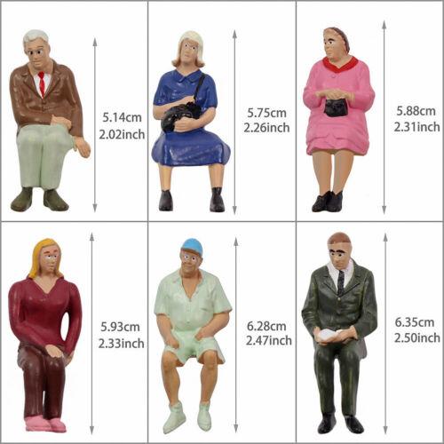 Modellbau Verschieden Sitzende Figuren Spur G 1:22.5-1:25 Minigartendekor 24Stk