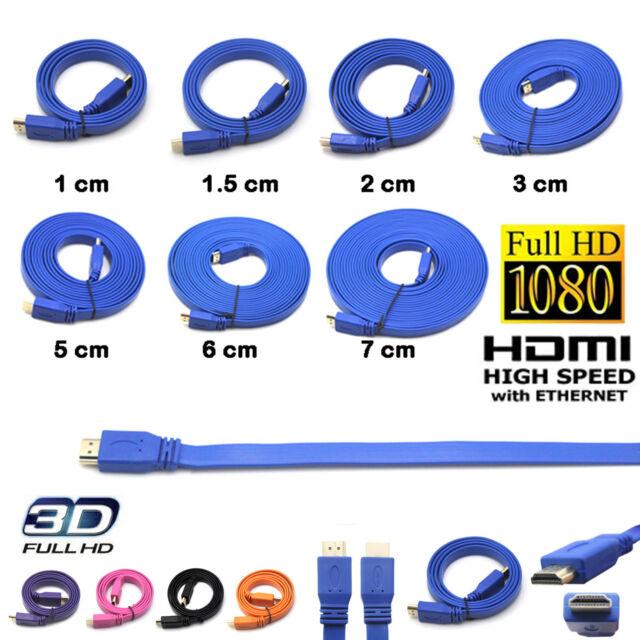 1M/1.5M/2M/3M/5M/6M/7M HDMI Flat Cable Full HD HDTV Ethernet 1080P M/F Adapter
