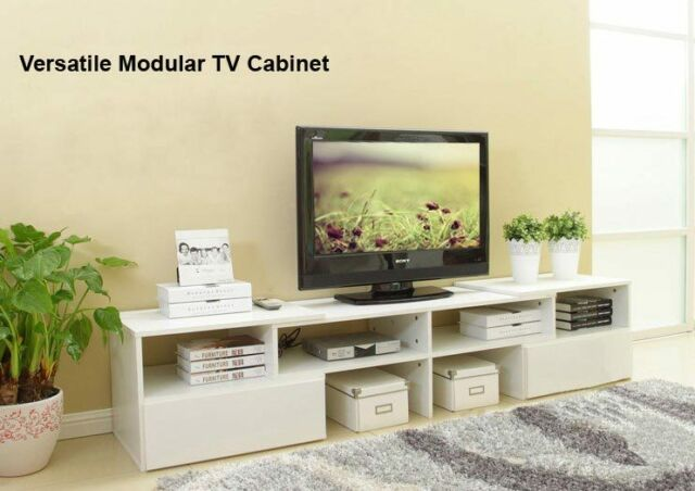 Lowline Modular LCD LED TV Stand Entertainment Unit Cabinet Yellow Oak TV03