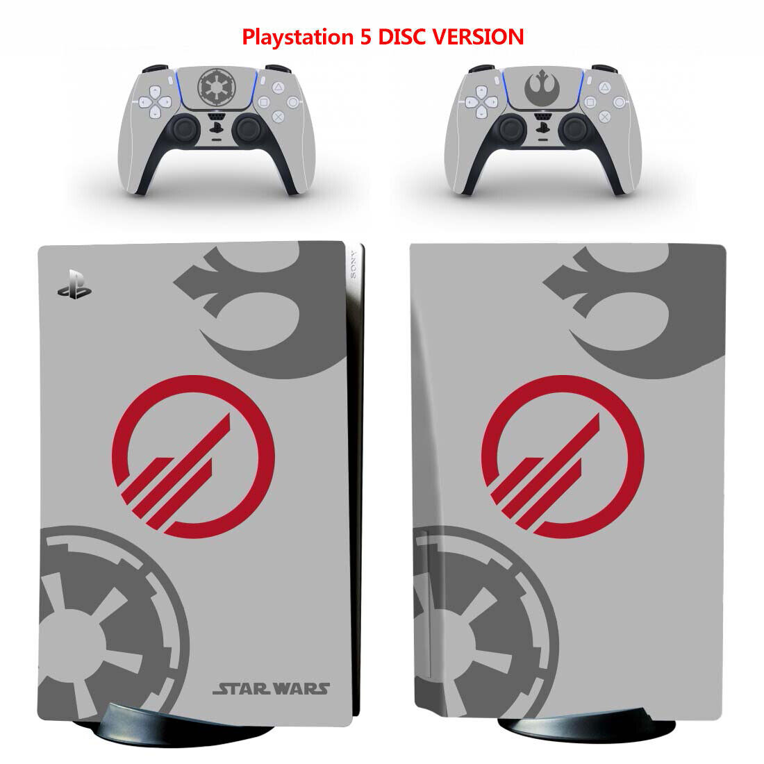 PS5 Disc Sticker for Console Controllers Vinyl Skin Wrap Decal Cover Star Wars