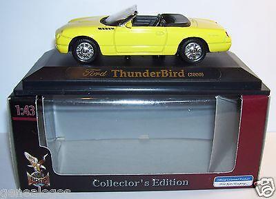 ROAD SIGNATURE FORD THUNDERBIRD 2000 JAUNE CABRIOLET 1//43 in box